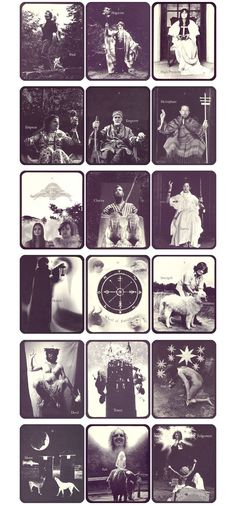 More photographs of the entire Major Arcana. Can someone please tell me if this is a proper deck? Very cool vintage photos... I'm wondering too...