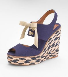 b9d0de3a0a84 Loving these Tory Burch linley high wedge espadrilles. Tory Burch Sandals