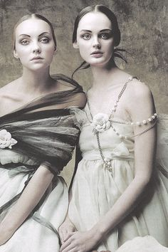 Heather Marks and Lisa Cant wearing Chanel ph. by Jono Lee   Vogue Korea, Aug. 2005.