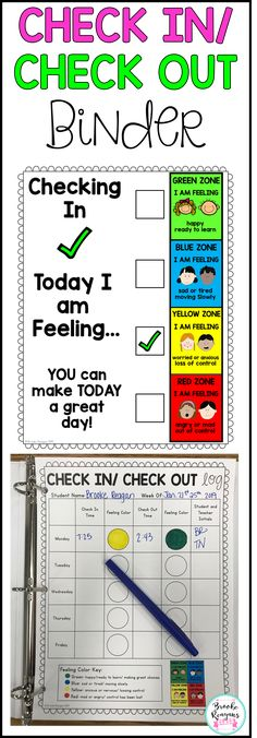 Check in/ Check out binder. A positive behavior management system for students. Everything you need to implement this positive behavior system in your classroom or school. Classroom Behavior System, Behavior Interventions, Behavior Plans, Student Behavior, Behavior Charts, Kindergarten Behavior System, Positive Behavior Management, Behavior Management System, Positive Behavior Support