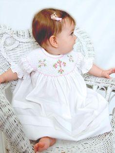 Girl's White Christening Easter Bishop Cross Dress--Carousel Wear - 1