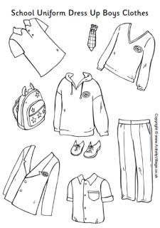 school uniform paper dolls girls clothes j pinterest coloriage uniforme scolaire et papier. Black Bedroom Furniture Sets. Home Design Ideas
