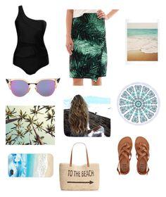 """Beach Beauty"" by moogiebatoogie on Polyvore featuring Fendi, Worthington, Billabong, Style & Co., stylishcurves and plussizeswimsuit"