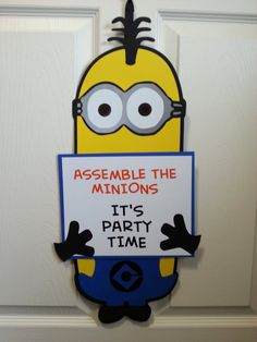 Minion Inspired Character Door Sign  customizable by SayzItAll, $23.50