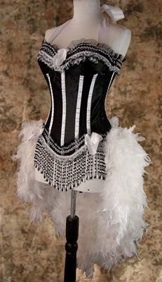 Moulin Rouge Burlesque Costume Showgirl Costume caberet Costume
