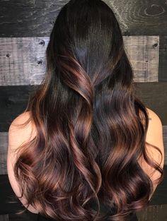 S (autumn) copper, chestnut, chocolate brown, dark… Balyage Long Hair, Cabelo Ombre Hair, Blue Ombre Hair, Dyed Hair Pastel, Hair Color Auburn, Auburn Hair, Hair Color Dark, Cool Hair Color, Dark Hair