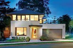 modelos de casas de dos pisos sencillas elegantes