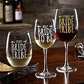 Create lasting Wedding memories with the Personalized Colored Vinyl Bridal Party Stemless Wine Glass. Find the best personalized wedding gifts at PersonalizationMall.com