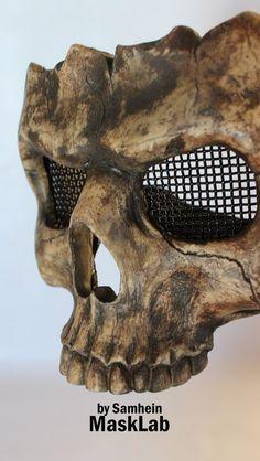 Skull half mask by MaskLabShop on Etsy