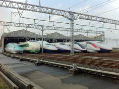 東の新幹線が勢ぞろい!