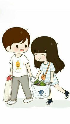 L(*Oεv*)E. anita mahanta · cute couple cartoon world Love Cartoon Couple, Cute Couple Comics, Chibi Couple, Cute Couple Art, Anime Love Couple, Cute Couple Pictures, Cute Anime Couples, Cute Couples Cuddling, Gif Disney