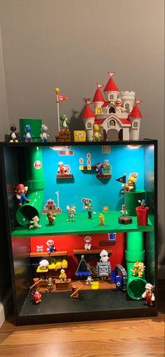 Mario Birthday Banner, Super Mario Birthday, Super Mario Room, Mario Crafts, Lego Decorations, Kids Daycare, Kids Room Organization, Mario Party, Kids Decor