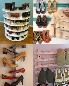 46 Creative Shoe Storage Ideas >> http://www.hgtvremodels.com/interiors/shoe-storage-creative-attractive-functional-options/pictures/index.html?soc=pinterest