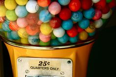 Gumball machines & Gobstoppers
