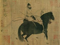Han Gan - Two horses and a groom. Tang Dynasty (618 - 907)