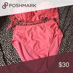 Pink bikini Never worn adorable it was too big in the bust for me Swim Bikinis