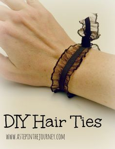 DIY Hair Ties http://www.astepinthejourney.com