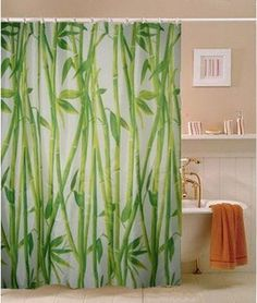 African Jungle Theme Bathroom (Bamboo Fabric Shower Curtain)