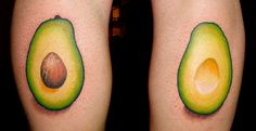 I'm not a huge tattoo fan; but I DO love avocados! And this is very clever
