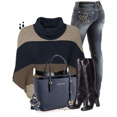 Sweater Poncho & Tall Boots