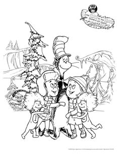 the cat in the hat knows a lot about christmas dvd coloring sheetscoloring