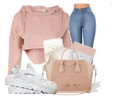 """: "" by omggzoee ❤ liked on Polyvore featuring Ashlyn'd, Givenchy and NIKE"
