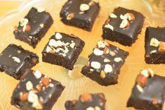Fudgebrownies - raw - Veganeren Brownies, Muffin, Sweets, Vegan, Breakfast, Desserts, Food, Cakes, Cake Brownies