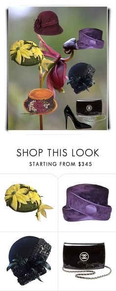 """""""Buy vintage hats. They are like  alive."""" by m-kints ❤ liked on Polyvore featuring Adolfo, Chanel, Gucci, vintage and hats"""