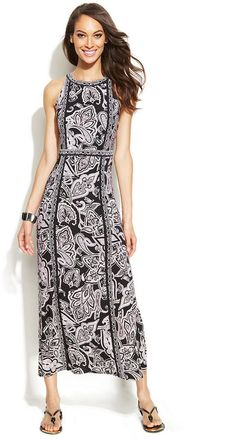 INC International Concepts Printed Maxi Halter Dress is on sale now for - 25 % !
