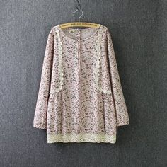Buy 'Blue Rose – Floral Print Lace Trim Linen-blend Top' with Free International Shipping at YesStyle.com. Browse and shop for thousands of Asian fashion items from China and more!
