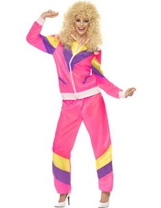 Looking for Height Of Fashion Shell Suit Costume, Pink? Get it from our wholesale Fancy Dress range today. Visits Smiffy's wholesale for all your Adult Fancy Dress needs today. 80s Costume, Pink Costume, Adult Costumes, 80s Halloween Costumes, Ladies Costumes, Suit Fashion, 80s Fashion, Hippie Fashion, Fashion Women