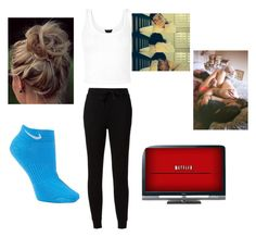 """""""Netflix"""" by veronicabrooks1 ❤ liked on Polyvore featuring T By Alexander Wang, NIKE and Sony"""