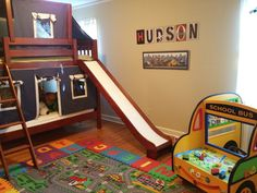 Toddler boy's bedroom, well wouldn't that just be awesome dude yessss! Boy Toddler Bedroom, Toddler Rooms, Boy Room, Kids Bedroom, Bedroom Decor, Bedroom Ideas, Bedroom Inspiration, My Dream Home, New Homes