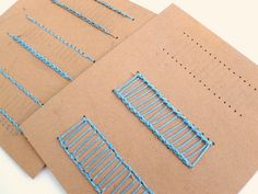 Bookbinding stitching cards - clever idea!! Now to find the time to make them