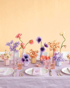 Really pretty blooms and colors. Too much lavender and not enough cream+eggplant+green but the flower types are great.