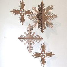 Laser Cut Snowflakes  Cardboard Winter Christmas New by seequin