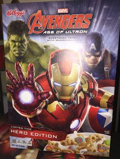 Kelloggs marvel avengers age of ultron sweetened cereal with marshmallows hero edition