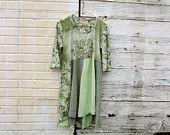 t-shirt dress / upcycled clothing / romantic Panel Dress by CreoleSha - women's clothing / romantic clothing