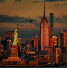 New York ❤️ Ny Skyline, New York Sites, New York Architecture, New York Photos, The Great Escape, I Love Ny, Empire State Building, Beautiful World, Statue Of Liberty