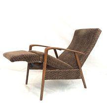 Vintage Retro Mid Century Danish Recliner Chair Atomic Teak Armchair Ercol GPlan