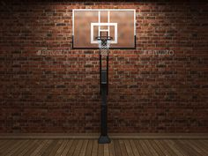 old brick wall and basketball by icetray. old brick wall and basketball made in 3D graphics