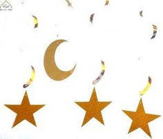 These glitter crescent moon hanging swirls are perfect to welcome the Holy month of Ramadan, for your Eid decoration or any Islamic celebration. Each pack has 3 gold glitter stars, in dimension 1 silver Crescent swirl, in dimension Glitter Flats, Silver Glitter, Eid Banner, Glitter Bath Bomb, Glitter Paint Additive, Islamic Celebrations, Eid Party, Glitter Pumpkins, Glitter Letters