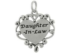 Sterling Silver Daughter-in-Law Charm. Item CHSS-FAMILY-O.