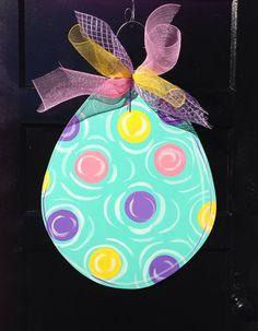 Easter door hanger easter wreatheaster egg by Furnitureflipalabama