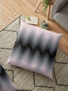 Zigzag. Peach, grey, black Ombre.Zigzag, Peach, gray, black, Ombre, simple , stripe, striped, horizontal, line, curve,gradient , pink • Also buy this artwork on home decor, apparel, stickers, and more.