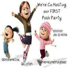 WE ARE CO-HOSTING OUR FIRST POSH PARTY!!!!! We are so excited to be co-hosting our very first Posh party together!  Please join us on 1/30/16 @7 PM PST with fellow co-hosts @mimismenagerie and @icaton  Theme to be announced later!  We are still seeking our other co-hosts, so if you are out there come on out and play with us.  We can't wait to meet you!  We are looking forward to partying with all of you. @debbimiller Other