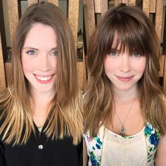 Fringe for fall! Before and after, cut by Rainer. #PINsalon #DallasHairSalon
