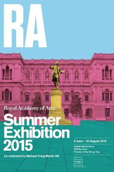 Michael Craig-Martin: Summer Exhibition 2015 Royal Academy poster, Courtesy Royal Academy of Arts -- Event Flyer Ideas & Templates Simple Poster Design, Creative Poster Design, Creative Posters, Graphic Design Posters, Graphic Design Inspiration, Layout Design, Event Poster Design, Poster Designs, Design Art