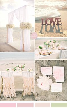 pale pink and blush beach wedding color ideas for summer weddings 2015