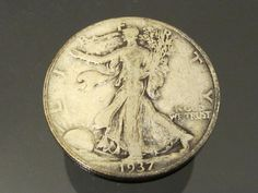 1937 Walking Liberty Half Dollar Coin 90 by wandajewelry2013, $34.00
